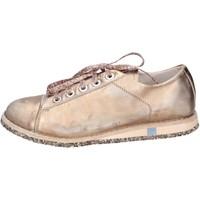 Sko Dame Lave sneakers Moma sneakers rosa pelle platino BT48 Rosa
