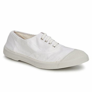 Sko Dame Lave sneakers Bensimon TENNIS LACET Hvid