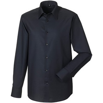 textil Herre Skjorter m. lange ærmer Russell 922M Black
