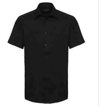 textil Herre Skjorter m. korte ærmer Russell 923M Black