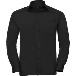 textil Herre Skjorter m. lange ærmer Russell 934M Black