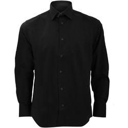 textil Herre Skjorter m. lange ærmer Russell 946M Black