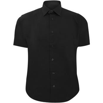 textil Herre Skjorter m. korte ærmer Russell 947M Black