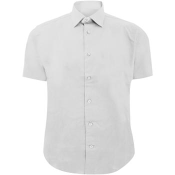 textil Herre Skjorter m. korte ærmer Russell 947M White