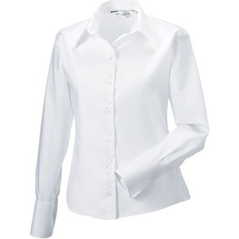 textil Dame Skjorter / Skjortebluser Russell Ultimate White