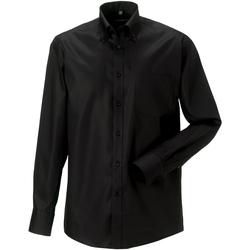 textil Herre Skjorter m. lange ærmer Russell 956M Black