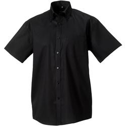 textil Herre Skjorter m. korte ærmer Russell 957M Black