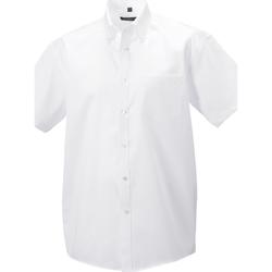 textil Herre Skjorter m. lange ærmer Russell 957M White
