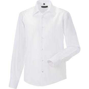 textil Herre Skjorter m. lange ærmer Russell 958M White