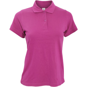 textil Dame Polo-t-shirts m. korte ærmer B And C PW455 Fuchsia