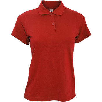 textil Dame Polo-t-shirts m. korte ærmer B And C PW455 Red