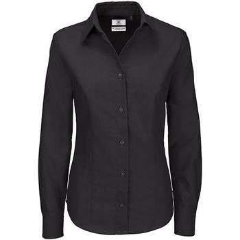 textil Dame Skjorter / Skjortebluser B And C SWO03 Black