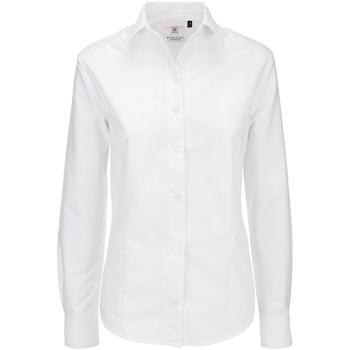 textil Dame Skjorter / Skjortebluser B And C SWO03 White