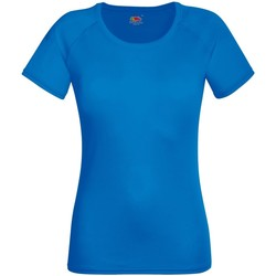 textil Dame T-shirts m. korte ærmer Fruit Of The Loom 61392 Royal