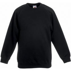 textil Børn Sweatshirts Fruit Of The Loom 62039 Black