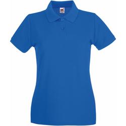 textil Dame Polo-t-shirts m. korte ærmer Fruit Of The Loom 63030 Royal