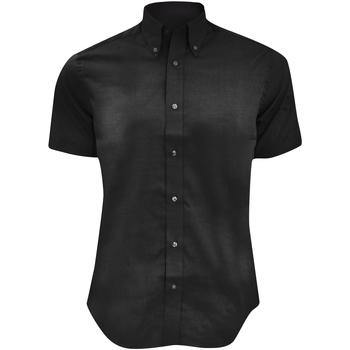textil Herre Skjorter m. korte ærmer Kustom Kit KK187 Black