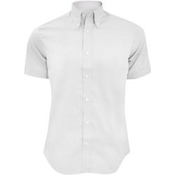 textil Herre Skjorter m. korte ærmer Kustom Kit KK187 White