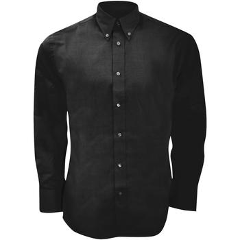 textil Herre Skjorter m. lange ærmer Kustom Kit KK188 Black