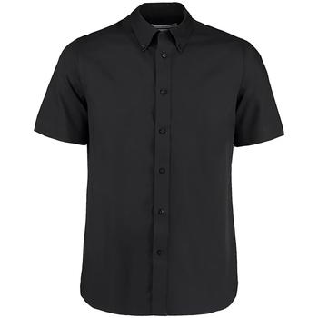 textil Herre Skjorter m. korte ærmer Kustom Kit KK385 Black