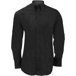 textil Herre Skjorter m. lange ærmer Kustom Kit KK386 Black