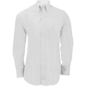 textil Herre Skjorter m. lange ærmer Kustom Kit KK386 White