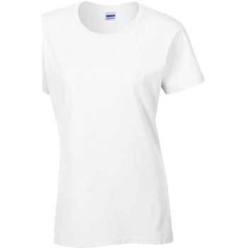 textil Dame T-shirts m. korte ærmer Gildan Missy Fit White