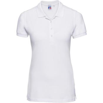 textil Dame Polo-t-shirts m. korte ærmer Russell 566F White