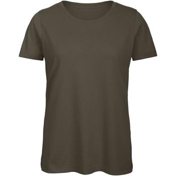 textil Dame T-shirts m. korte ærmer B And C TW043 Khaki