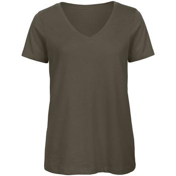 textil Dame T-shirts m. korte ærmer B And C Organic Khaki