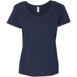 textil Dame T-shirts m. korte ærmer Gildan 64550L Navy