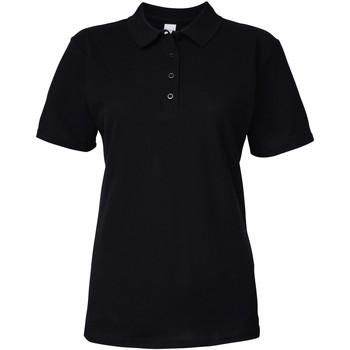 textil Dame Polo-t-shirts m. korte ærmer Gildan 64800L Black