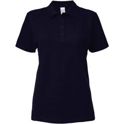 textil Dame Polo-t-shirts m. korte ærmer Gildan 64800L Navy
