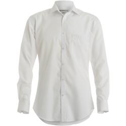 textil Herre Skjorter m. lange ærmer Kustom Kit KK113 White