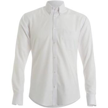 textil Herre Skjorter m. lange ærmer Kustom Kit KK139 White