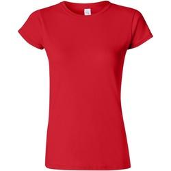 textil Dame T-shirts m. korte ærmer Gildan Soft Red