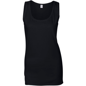 textil Dame Toppe / T-shirts uden ærmer Gildan 64200L Black