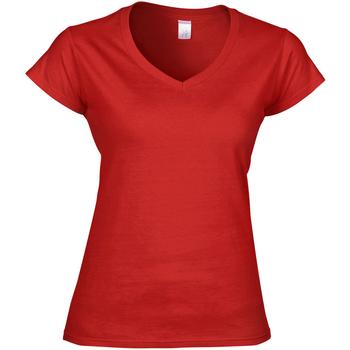 textil Dame T-shirts m. korte ærmer Gildan Soft Style Red