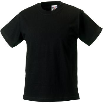 textil Børn T-shirts m. korte ærmer Jerzees Schoolgear ZT180B Black