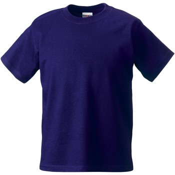 textil Børn T-shirts m. korte ærmer Jerzees Schoolgear ZT180B Purple