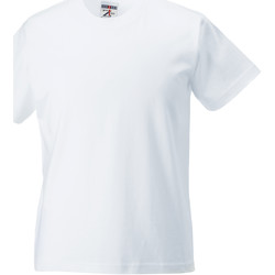 textil Børn T-shirts m. korte ærmer Jerzees Schoolgear ZT180B White