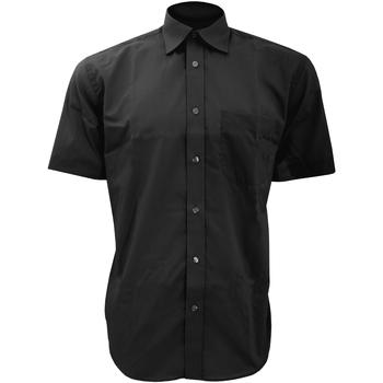 textil Herre Skjorter m. korte ærmer Kustom Kit KK102 Black
