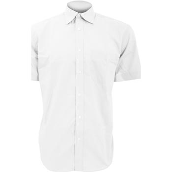 textil Herre Skjorter m. korte ærmer Kustom Kit KK102 White