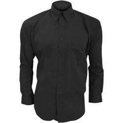 textil Herre Skjorter m. lange ærmer Kustom Kit KK105 Black