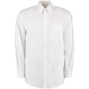 textil Herre Skjorter m. lange ærmer Kustom Kit KK105 White