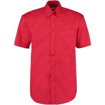 textil Herre Skjorter m. korte ærmer Kustom Kit KK109 Red