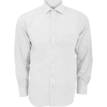 textil Herre Skjorter m. lange ærmer Kustom Kit KK116 White