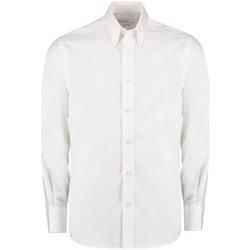 textil Herre Skjorter m. lange ærmer Kustom Kit KK131 White