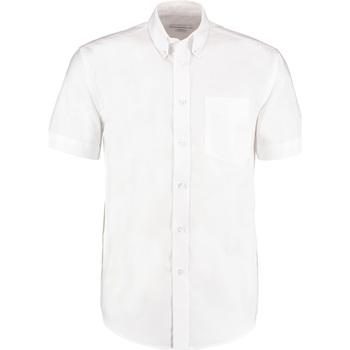 textil Herre Skjorter m. korte ærmer Kustom Kit KK350 White