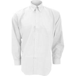 textil Herre Skjorter m. lange ærmer Kustom Kit KK351 White